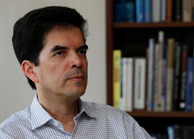 Activist shareholder David Webb poses in Hong Kong