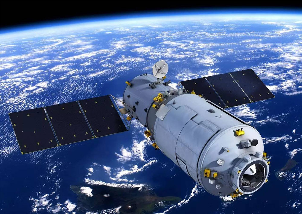 Tiangong 2 in space