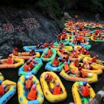 Rafting in China's most overcrowded river