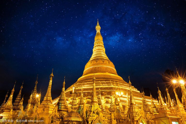 The Giant Golden Pagoda of Jiele