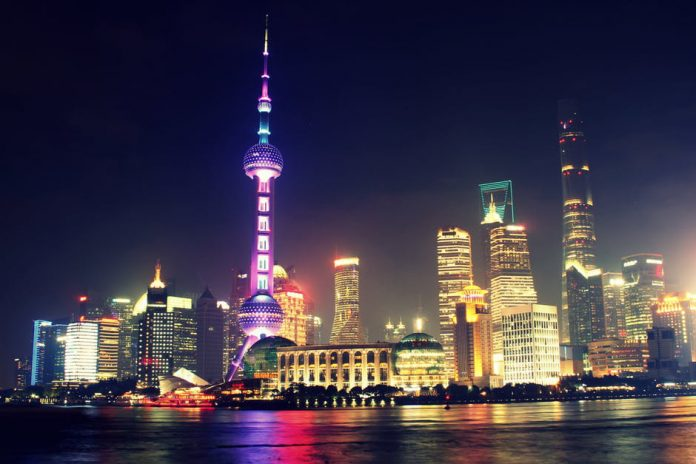 The-Shanghai-cityscape-at-night-China-gambling