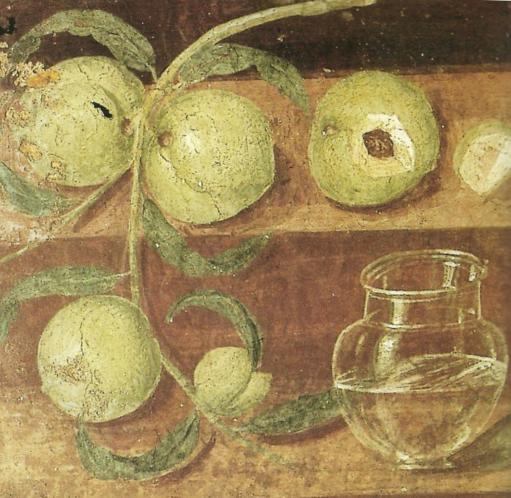 Still Life with Peaches and Water Jar - House of the Stags - Herculaneum (45-79 d.C.)