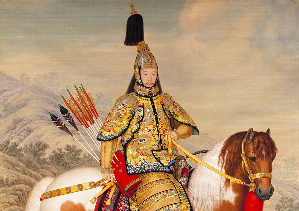 Castiglione-The-Qianlong-Emperor-in-Ceremonial-Armour-on-Horseback