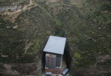hotel in a ridge