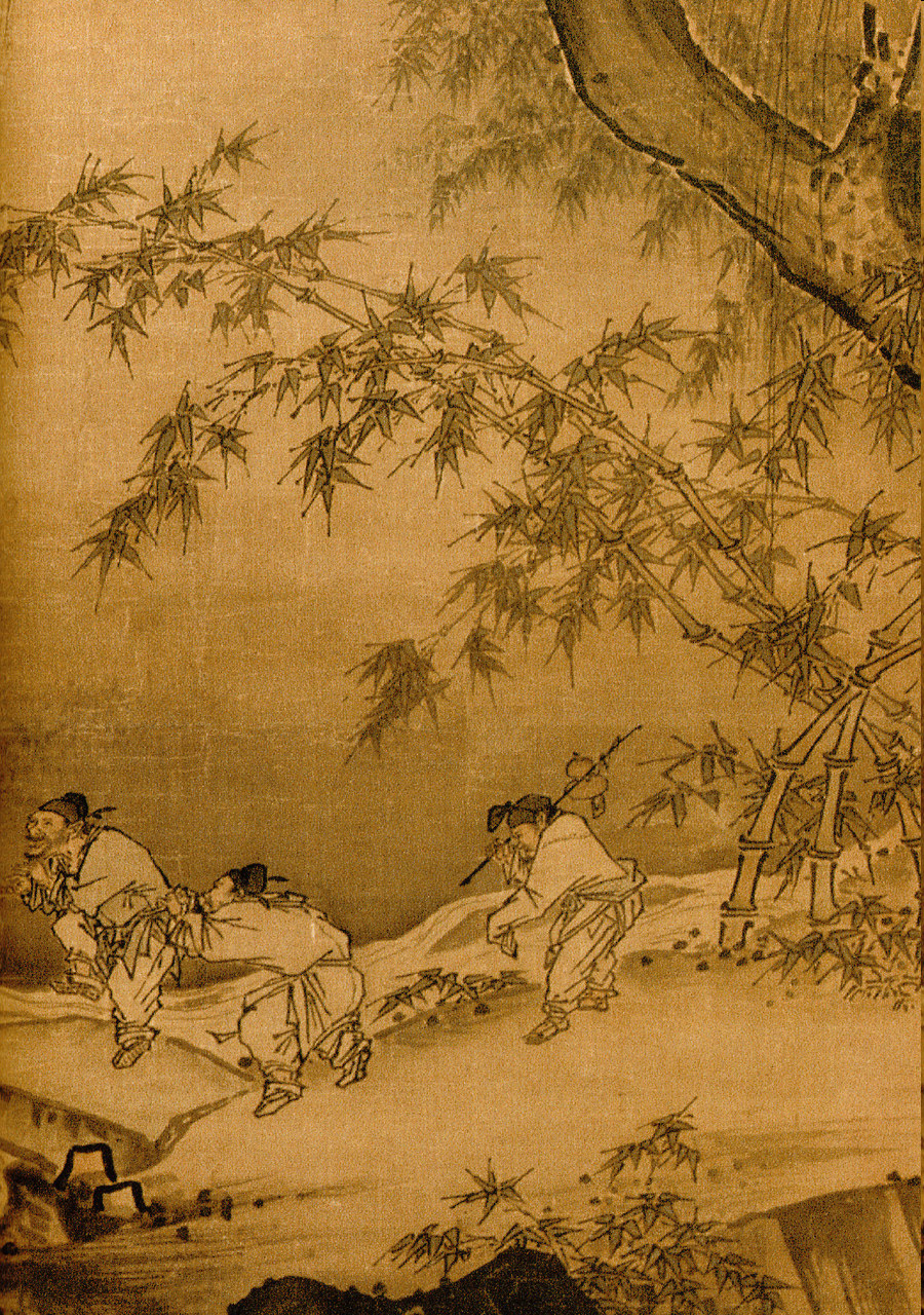 Ma Yuan - Dancing and Singing- Peasants Returning from Work - Detail 3