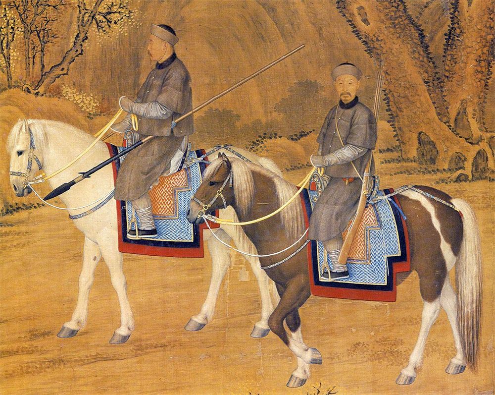 Portrait of the Emperor Troating for Deer - detail