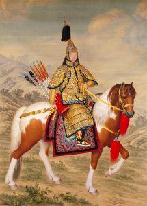 The Qianlong Emperor in Ceremonial Armour on Horseback