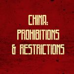 China: prohibitions and restrictions