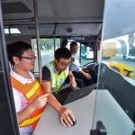 Self-driving buses begin trial operation in China