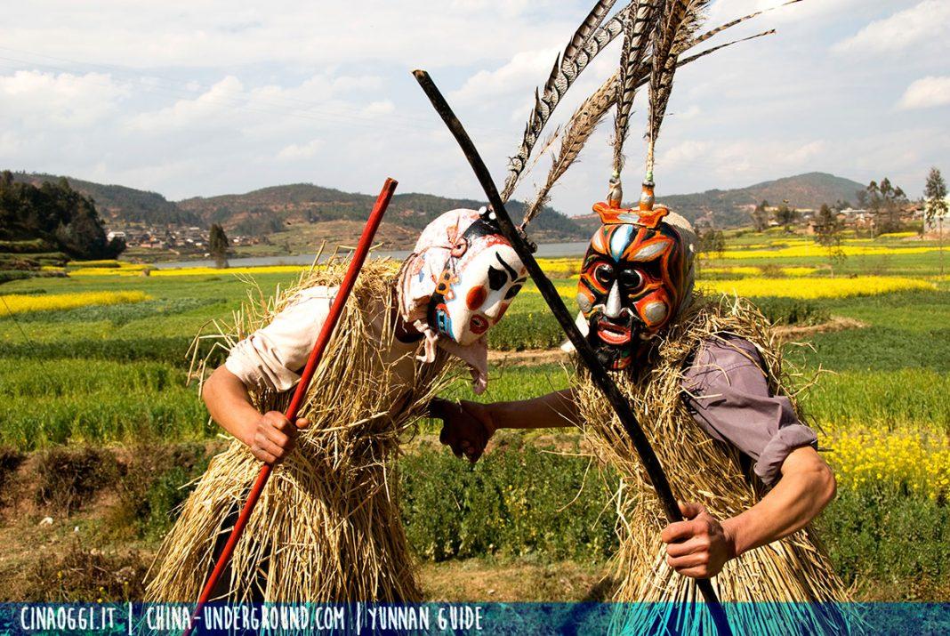 Yi people - shaman - Animal-Worship-Dancing-of-Yi-Nationality-of-Chuxiong---2---photo-by-Oliver-Huang