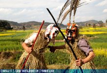 Yi people - shaman - Animal-Worship-Dancing-of-Yi-Nationality-of-Chuxiong---2---photo-by-Oliver-Huang