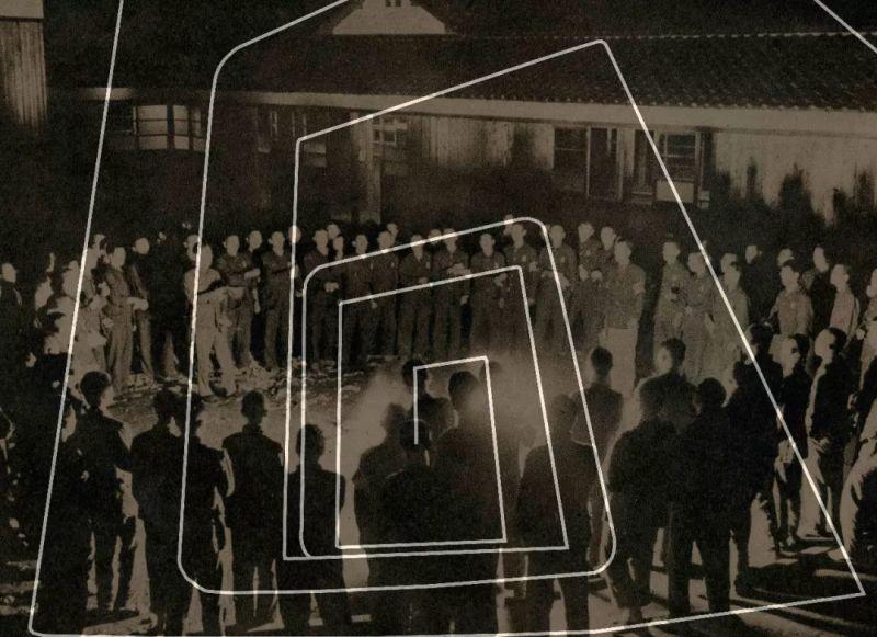 杨圆圆,《人群-螺旋A》,出自《大连幻景》系列,2017