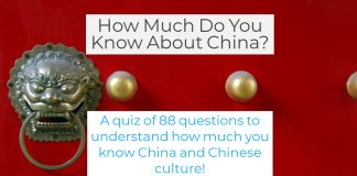 Quiz about China