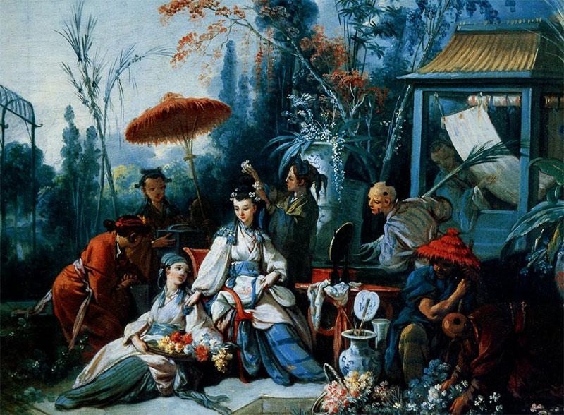 Francois Boucher Le Jardin Chinois
