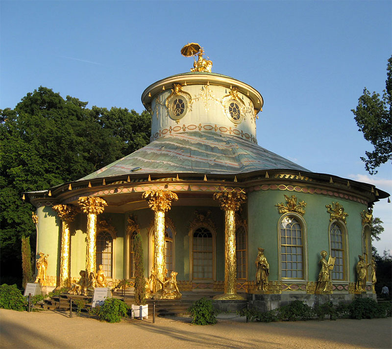 "So-called ""Chinese House"" in the Park of Sanssouci, which served as a teahouse"