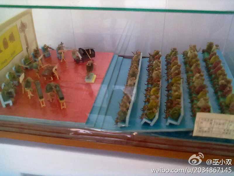 Beijing hairy monkeys made with cicada shell and magnolia bud