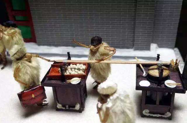 Beijing hairy monkeys made with cicada shell and magnolia bud
