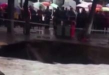 massive sinkhole china