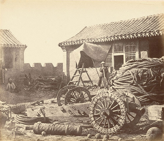 An-Pehtang-fort-was-abondoned-by-the-Chinese-army.-Printed-in-1860