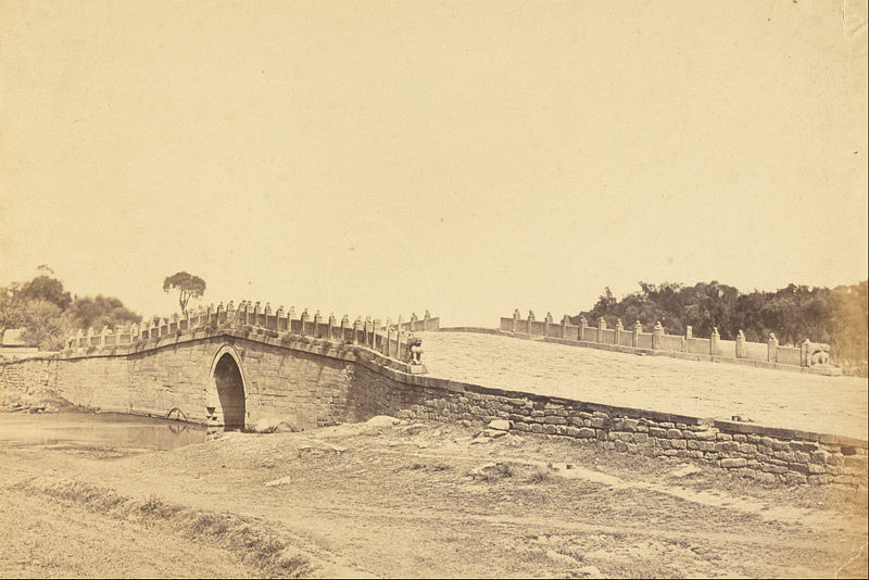 Bridge-of-the-Pa-li-k'um,-the-Scene-of-the-Fight-with-Imperial-Chinese-Troops,-September-21,-1860,-near-Pekin