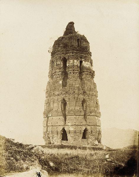 Crumbling-Brick-Pagoda,-Sung-Dynasty-1860
