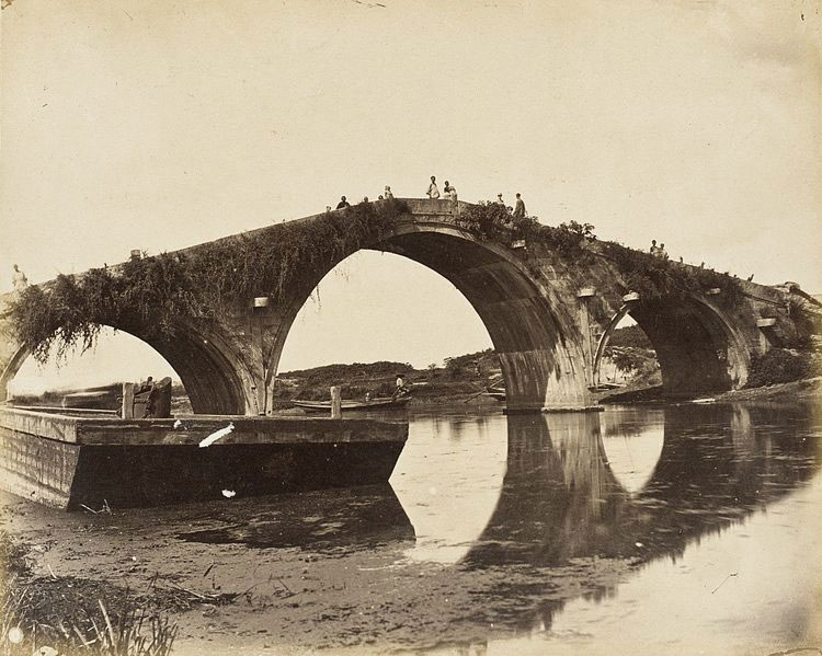 Three-arched-Stone-Bridge,-S.-China