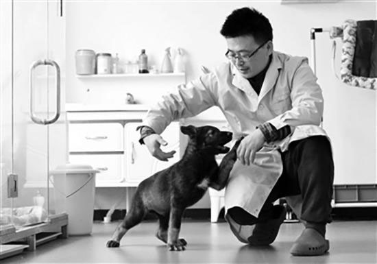 China's first cloned police dog starts training in China