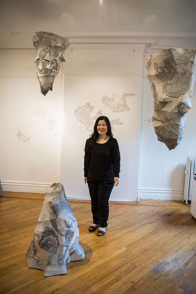 Jisook Kim at Fou Gallery, photograph by Nadia Peichao Lin ©Jisook Kim, courtesy Fou Gallery