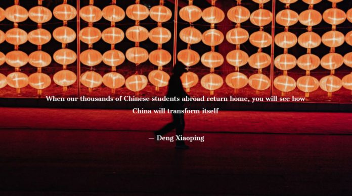 When our thousands of Chinese students abroad return home, you will see how China will transform itself