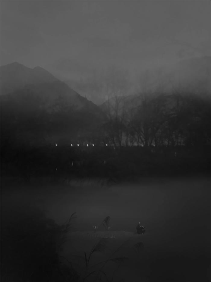 《无题-2》, 2016 80×60cm,无酸 收藏艺术纸 Untitled 2, 2016 - 80×60cm, Acid-free paper for artwork collection, Image ©Ribao Xiao