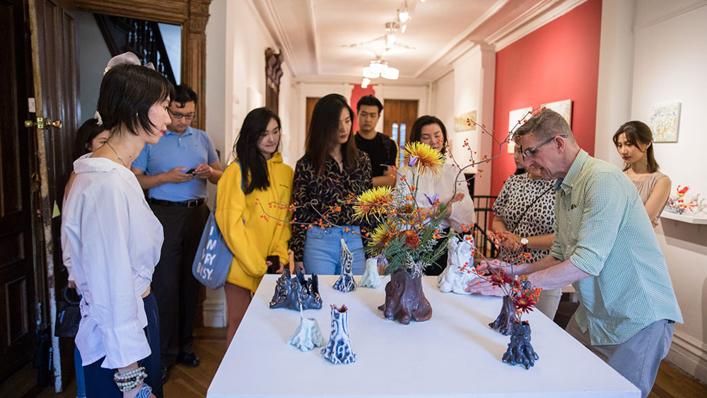 Michael Eade Opening Reception - Photo by Nadia Peichao Lin, courtesy Fou Gallery