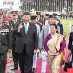 Chinese President Xi Jinping attends a welcome ceremony held by Nepal's President Bidya Devi Bhandari. Photo: Xinhua
