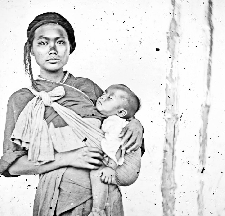 A Baksa woman and child, Formosa 1871.