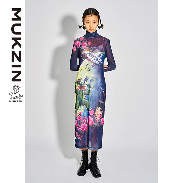 Mukzin-Designer-Brand-Cartoon-Print-Dress--MONSTER-SWEETHEART