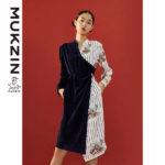 Mukzin-Designer-Brand-Contrast-Lace-up-Dress