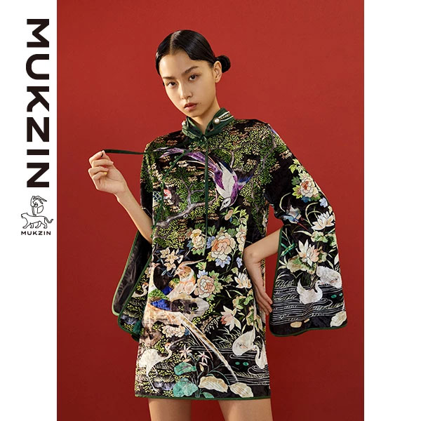 buy Cheongsam_Mukzin-Designer-Brand-Floral-Print-Cheongsam-(Qipao)---SPACE-IN-THE-GOURD