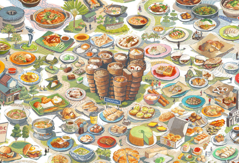 food illustrator lee xin li_food illustrations