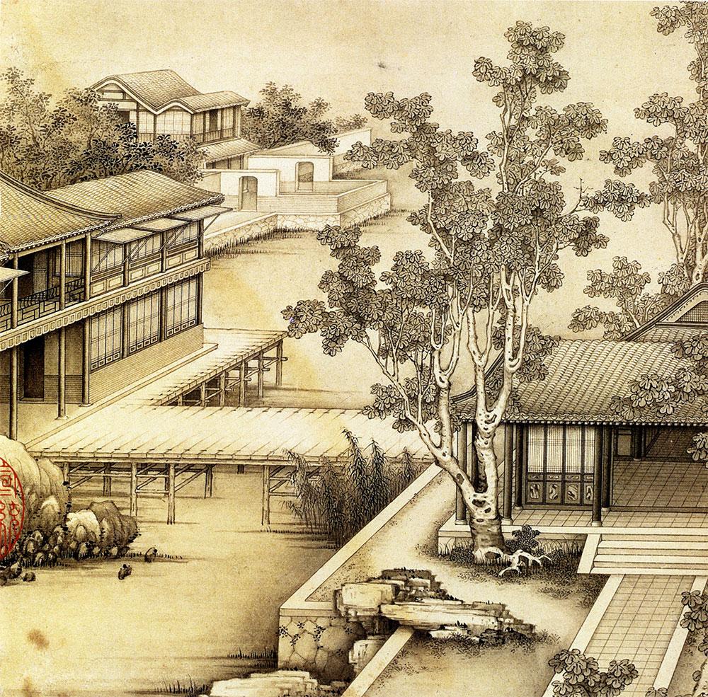 """""""Landscapes"""" (山水). Ink on paper"""