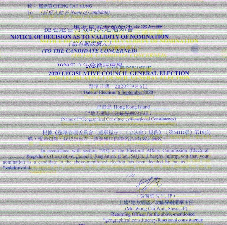 2020 Hong Kong Legislative Council election