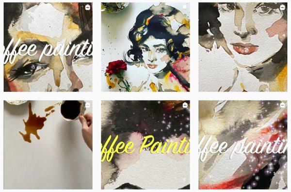 Coffee portraits, Anita Yan Wong's new painting series