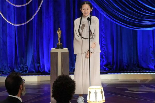 Chloé Zhao wins Wins 2021 Oscar for Best Director and Best Movie