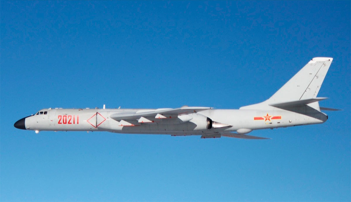 china bombing drill taiwan-H-6K strategic bombers