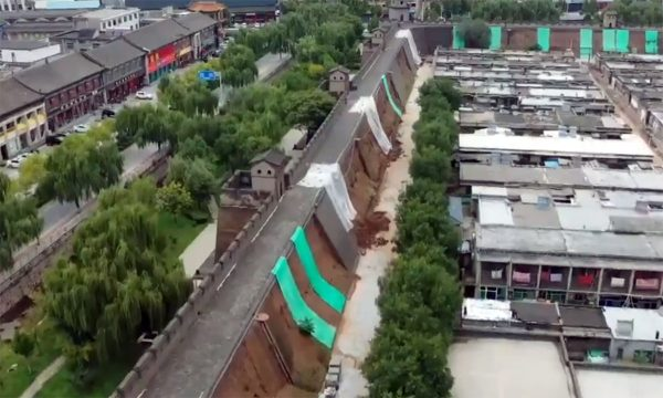 Thousands of historical sites damaged by torrential rain in Shanxi, China