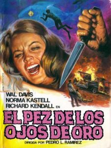 "Poster for the movie ""El pez de los ojos de oro"""
