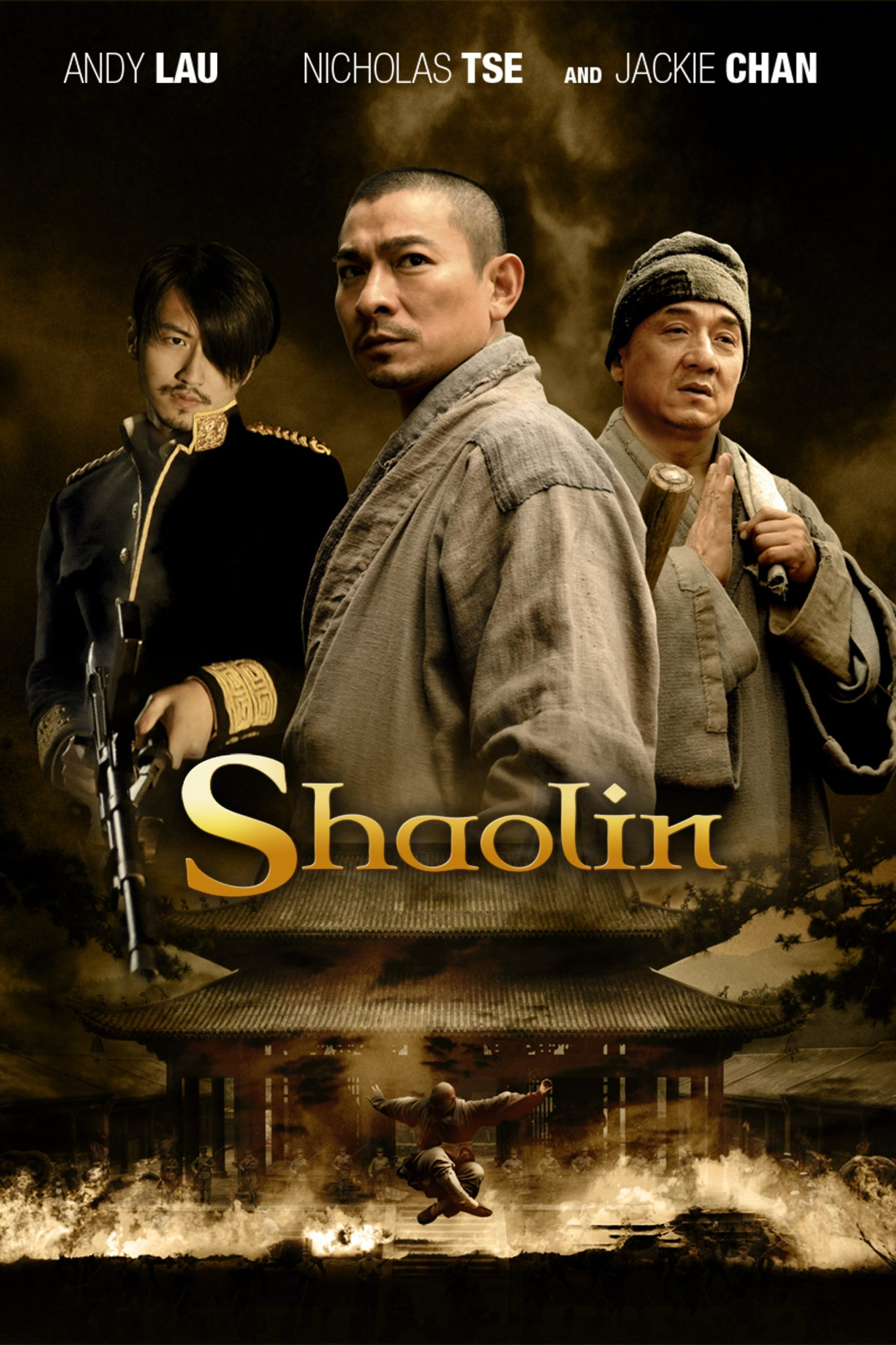 "Poster for the movie ""Shaolin"""
