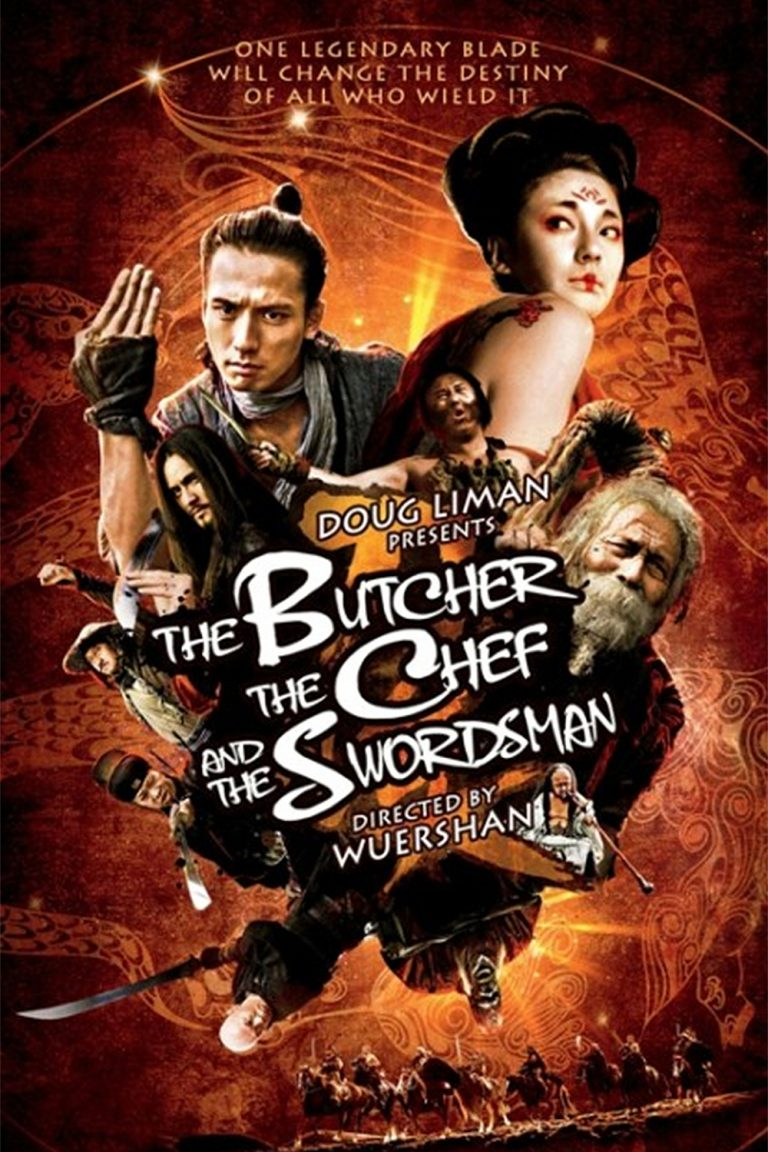 "Poster for the movie ""The Butcher, the Chef, and the Swordsman"""