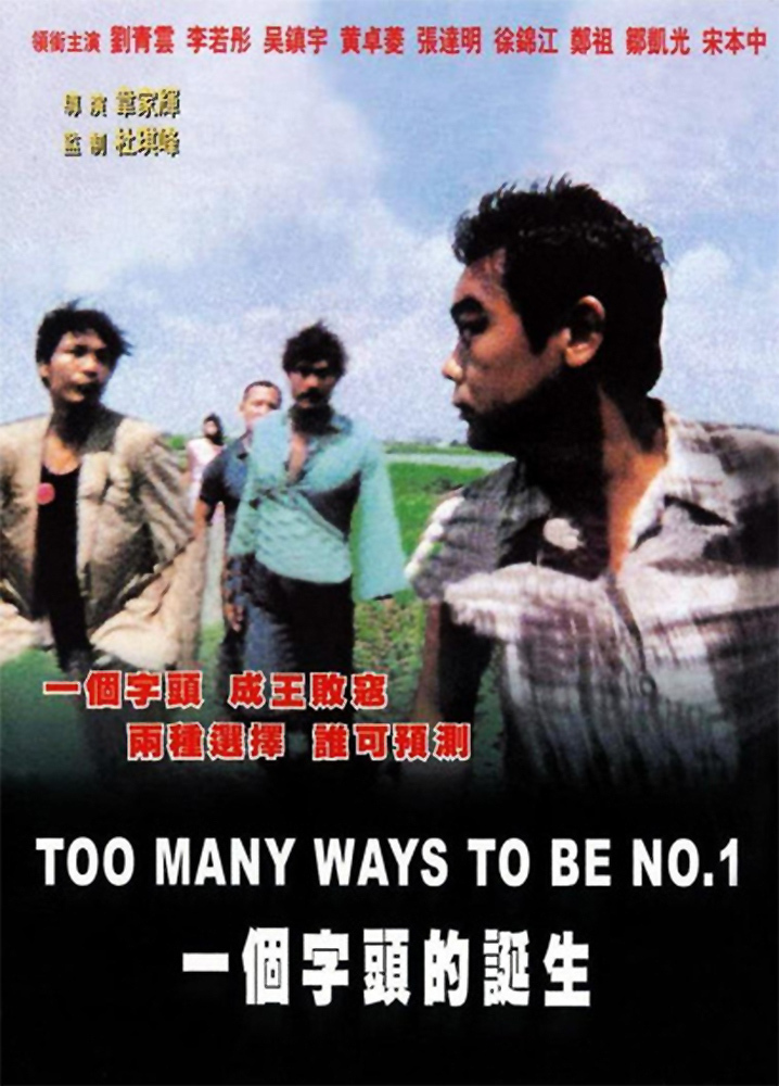"Poster for the movie ""Too Many Ways to Be No. 1"""